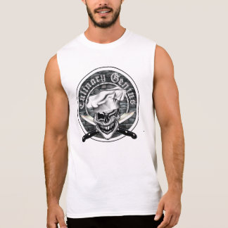 Winking Chef Skull Sleeveless Shirt