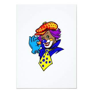 Winking Clown with Marble Custom Invitation