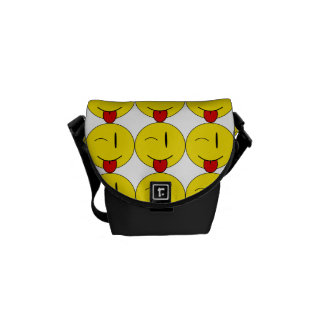 Winking Emoji Rickshaw Messenger Bag