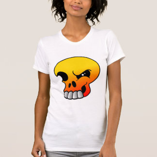 Winking Flame Skull T Shirt