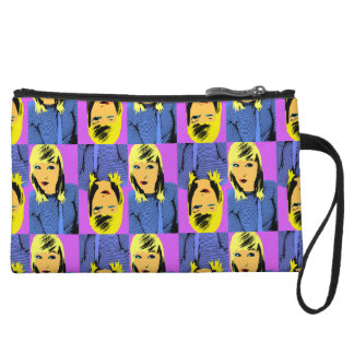 Winking Friend pop art Wristlet Clutch