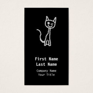 Winking Gray Cat. Business Card