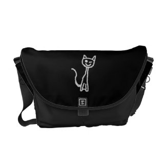 Winking Gray Cat. Courier Bags