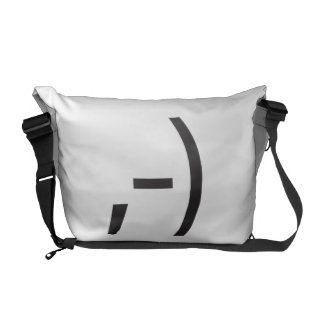 winking happy.ai courier bags