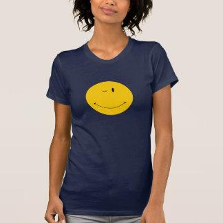 winking happy face tee shirt