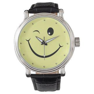 Winking Happy Face Watch