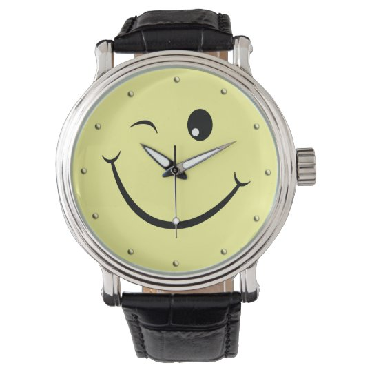 Winking Happy Face Wristwatches