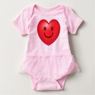 WInking Heart Emoji Baby Bodysuit