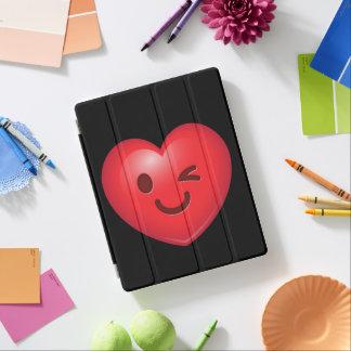 WInking Heart Emoji iPad Cover