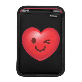 WInking Heart Emoji iPad Mini Sleeve