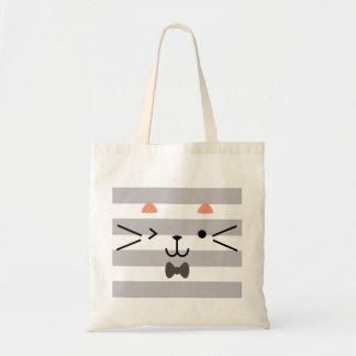 Winking Kitty Tote Bag