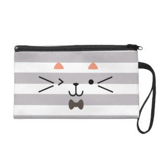 Winking Kitty Wristlet