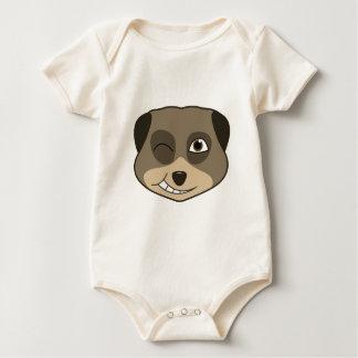 Winking meerkat design baby bodysuit