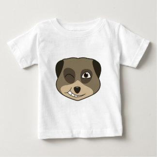 Winking meerkat design baby T-Shirt