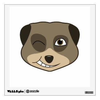 Winking meerkat design wall sticker