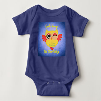 Winking Owl Baby Bodysuit