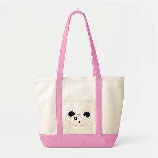 Winking panda tote bag