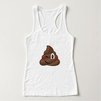 Winking Poop Emoji Tank Top