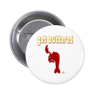 Winking Red Lobster Get Buttered 2 Inch Round Button