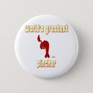 Winking Red Lobster World's Greatest Pincher 2 Inch Round Button