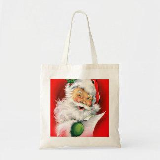 Winking Santa Budget Tote Bag