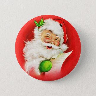 Winking Santa Claus 2 Inch Round Button