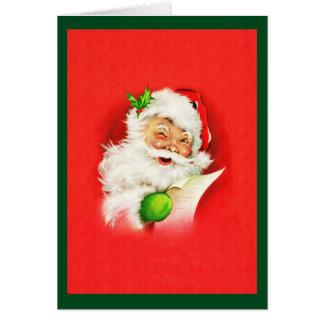 Winking Santa Claus Card