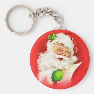 Winking Santa Claus Keychain
