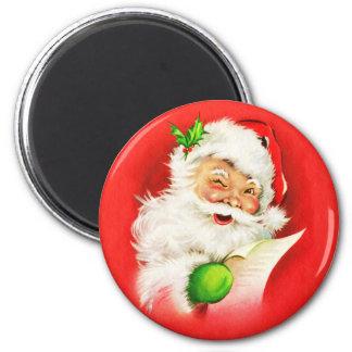 Winking Santa Claus Magnet
