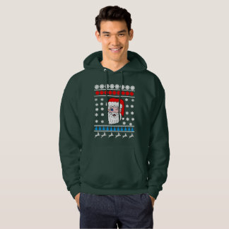 Winking Santa Head Ugly Christmas Hoodie