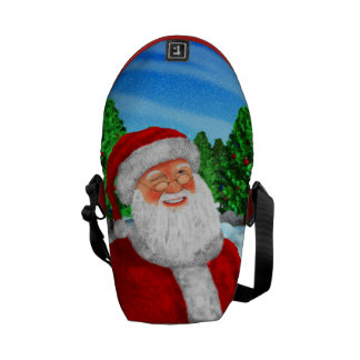 Winking Santa Messenger Bags