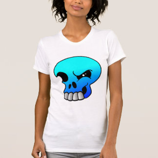 Winking Skull Devil Blue Tees