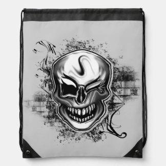 Winking Skull Drawstring Backpack