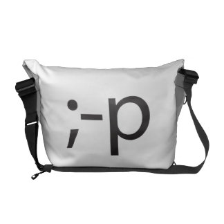 winking smiley.ai messenger bags
