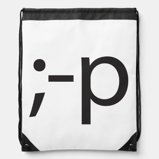 winking smiley.ai drawstring backpack