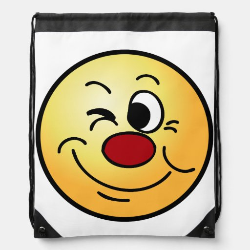 Winking Smiley Face Grumpey Backpacks