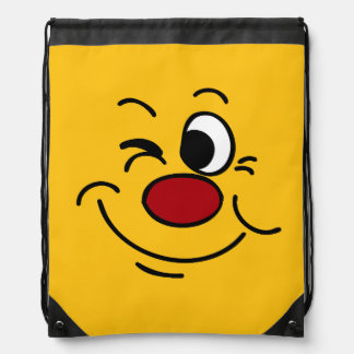 Winking Smiley Face Grumpey Backpack