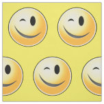 Winking Smiley Happy Face Fabric
