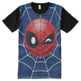 Winking Spider-Man Emoji All-Over-Print T-Shirt