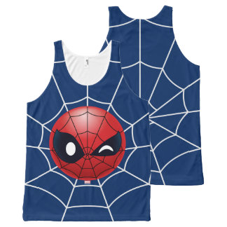 Winking Spider-Man Emoji All-Over-Print Tank Top