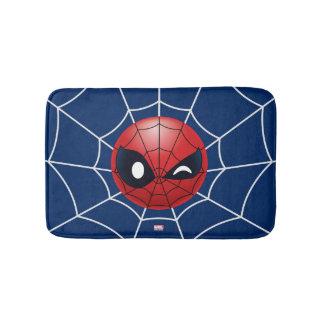 Winking Spider-Man Emoji Bath Mat