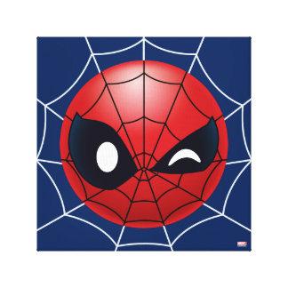 Winking Spider-Man Emoji Canvas Print