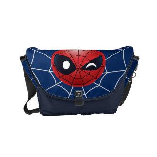 Winking Spider-Man Emoji Commuter Bag