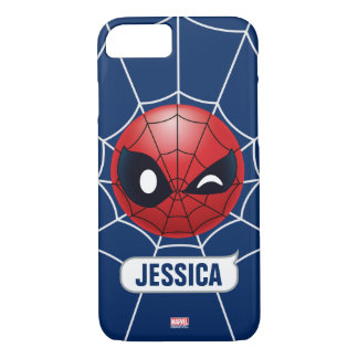 Winking Spider-Man Emoji iPhone 7 Case