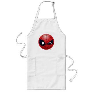 Winking Spider-Man Emoji Long Apron