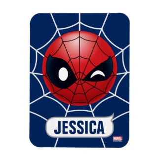Winking Spider-Man Emoji Magnet