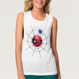 Winking Spider-Man Emoji Tank Top