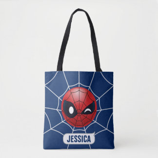 Winking Spider-Man Emoji Tote Bag