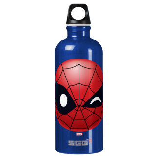 Winking Spider-Man Emoji Water Bottle