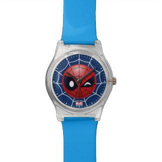 Winking Spider-Man Emoji Wrist Watches